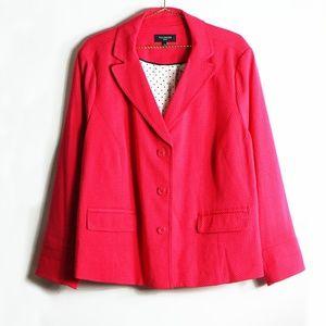 Talbots Pink Textured Blazer Jacket 20W